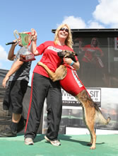 Extreme Vertical World Champion, Rex, receives regular animal chiropractic adjustments